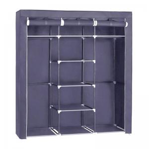 Φορητή υφασμάτινη ντουλάπα Herzberg HG-8011-GR Γκρι